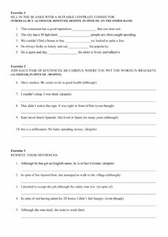 Interactive worksheet Linkers - Practice