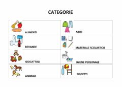 Ficha interactiva Categorie: alimenti-materiale scolastico