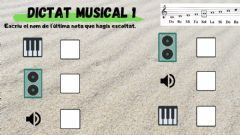 Interactive worksheet DICTAT MELODIC 3