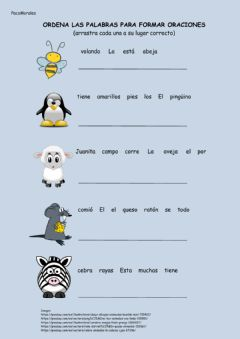 Interactive worksheet Ordena palabras 1