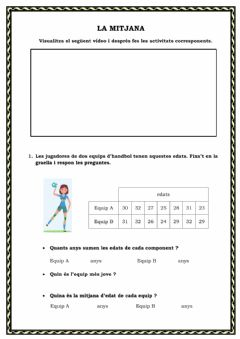Interactive worksheet Mitjana