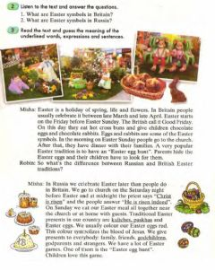 Interactive worksheet Easter in Russia and Britain