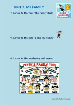 Interactive worksheet Unit 2. My family