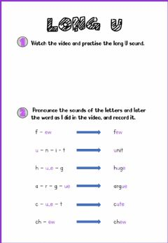 Interactive worksheet Long U sound