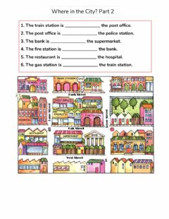 Interactive worksheet Where in the City? Part 2