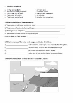Interactive worksheet Unit 3 Water
