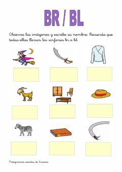 Interactive worksheet Trabadas br-bl