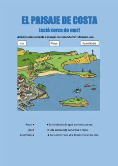 Interactive worksheet El paisaje de costa