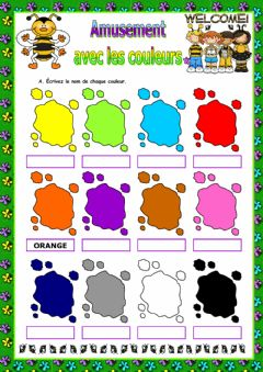 Interactive worksheet Les couleurs