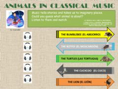 Interactive worksheet Animals in classical music