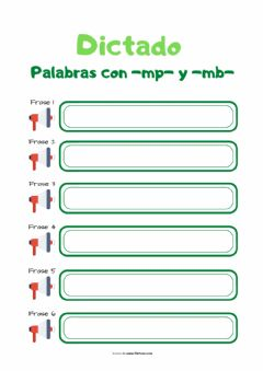 Interactive worksheet Dictado