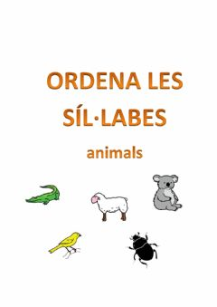 Ficha interactiva Ordenar síl·labes-animals