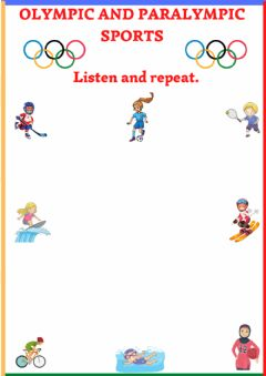 Interactive worksheet Olympic sports