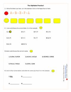 Interactive worksheet The Alphabet Practice With Names