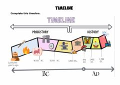 Interactive worksheet Time line