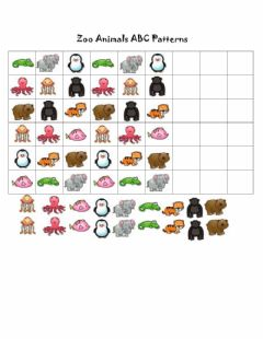 Interactive worksheet Zoo Animals ABC Pattern