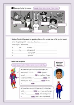 Interactive worksheet Dressing up!