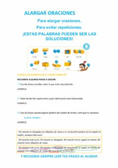 Interactive worksheet Alargar oraciones
