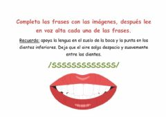 Interactive worksheet Completar frases con palabras con -s-