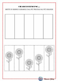 Interactive worksheet Girasoli crescono