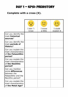 Interactive worksheet Kpsi prehistory