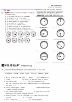 Interactive worksheet Times and vocabylary for study