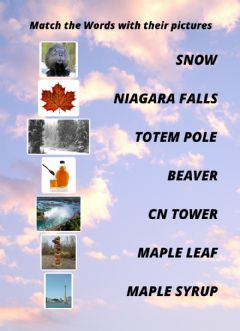 Interactive worksheet Icons of Canada