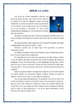 Interactive worksheet Mirar la luna
