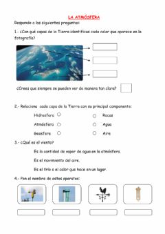 Interactive worksheet La atmósfera