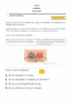 Interactive worksheet Sound Review