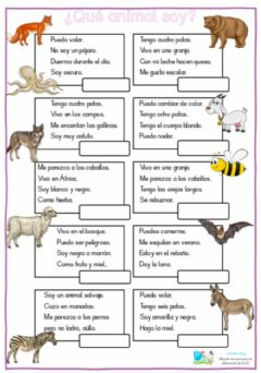 Interactive worksheet Adivinanza animales