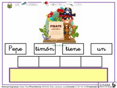 Interactive worksheet Palabras con p-l-m-s-t-n-8