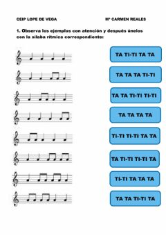 Interactive worksheet Ritmos sencillos