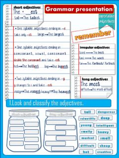 Interactive worksheet Superlative adjectives