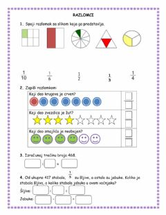 Interactive worksheet Razlomci