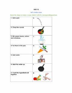 Interactive worksheet How to cook a soup