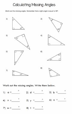 Ficha interactiva Missing Angle in Triangle