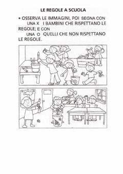 Interactive worksheet Le regole a scuola