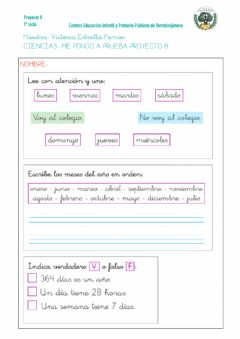 Interactive worksheet La historia