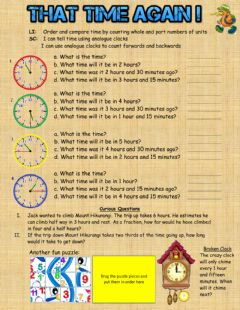 Interactive worksheet That Time Again !
