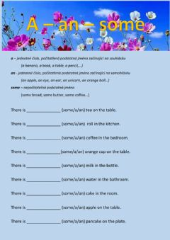Interactive worksheet A-an-some