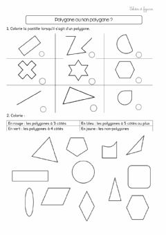Interactive worksheet Polygones- non polygones