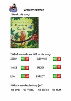 Interactive worksheet Monkey puzzle