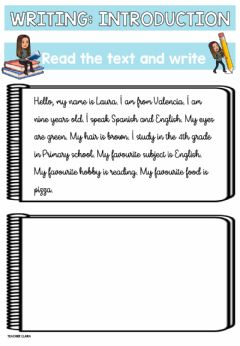 Interactive worksheet Writing introduction