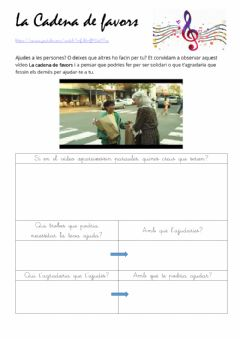 Interactive worksheet La cadena de favors