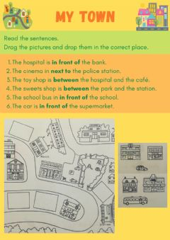 Interactive worksheet My town