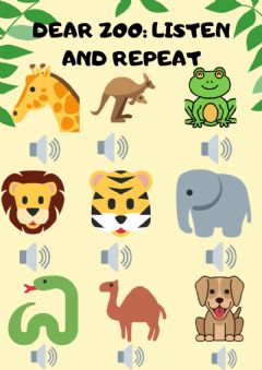 Interactive worksheet Dear zoo: listen and repeat