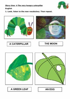 Ficha interactiva Vocabulary The very hungry Caterpillar