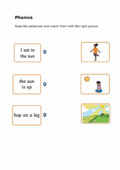 Interactive worksheet Read and match phonics
