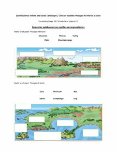 Interactive worksheet Inland and costal landscapes